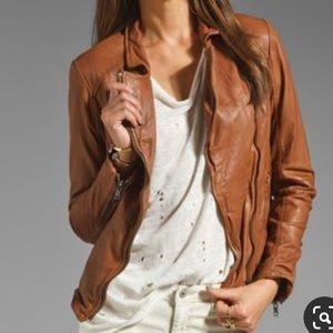 MUUBAA Monteria Biker Leather MOTO Coat Jacket